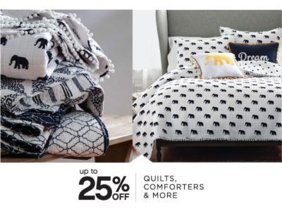 up to 25% OFF | QUILTS, COMFORTERS & MORE