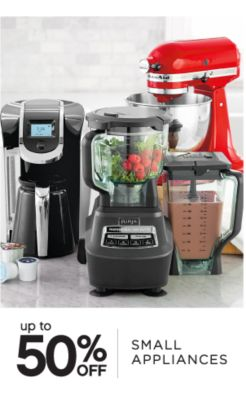 up to 50% OFF | SMALL APPLIANCES