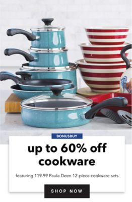 BONUSBUY - Up to 60% off cookware, featuring 119.99 Paula Deen 12-piece cookware sets. Shop Now.