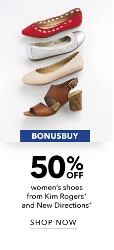 BonusBuy - 50% off Women's Shoes from Kim Rogers and New Directions - Shop Now