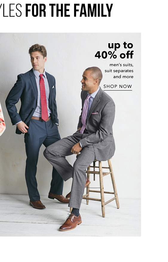 Up to 40% off Men's Suits, Suit Separates and more - Shop Now