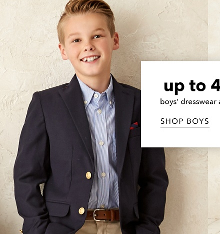 Up to 40% off Boys' Dresswear and Girls' Dresses - Shop Boys