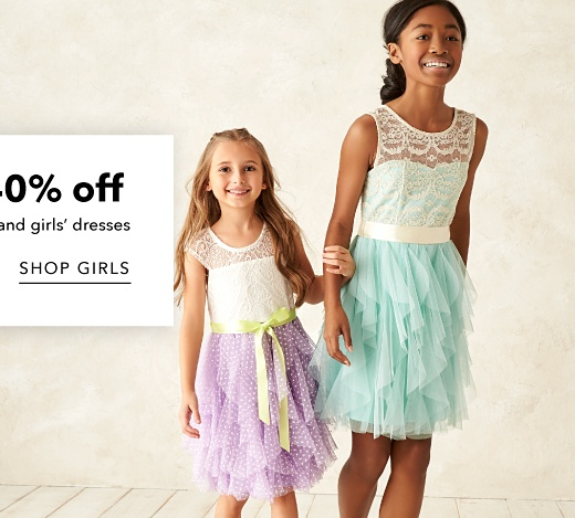Up to 40% off Boys' Dresswear and Girls' Dresses - Shop Girls