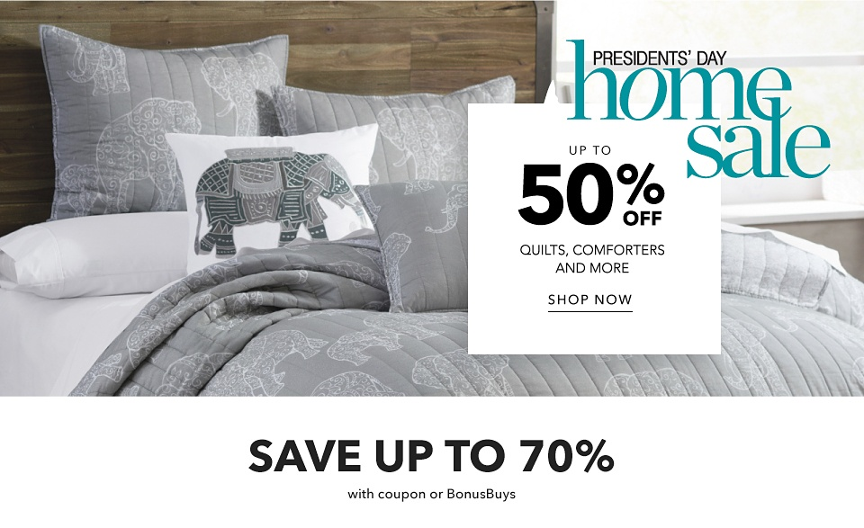 President's Day Sale - Up to 50% off Quilts, Comforters and more - Shop Now