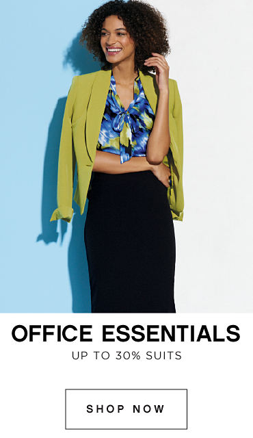 Office Essentials | Up to 30% off Suits - Shop Now