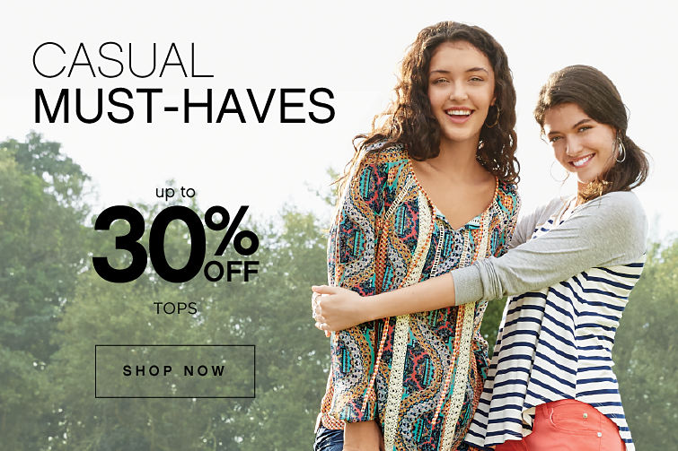 Casual must-haves | Up to 30% off tops | shop now