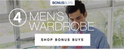 BONUSBUYS | 4 | MEN'S WARDROBE | SHOP BONUS BUYS