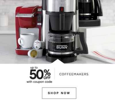 up to 50% OFF with coupon code | COFFEEMAKERS | SHOP NOW