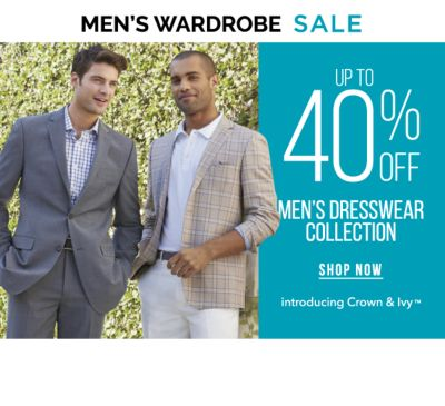 Men's Wardrobe Sale - Up to 40% off men's dresswear collection - Introducing Crown & Ivy™. Shop Now.