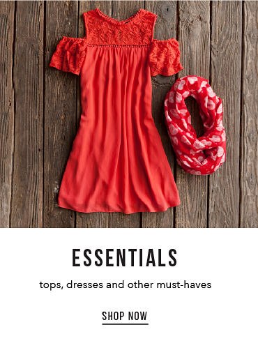 Essentials - tops, dresses and other must-haves - SHOP NOW