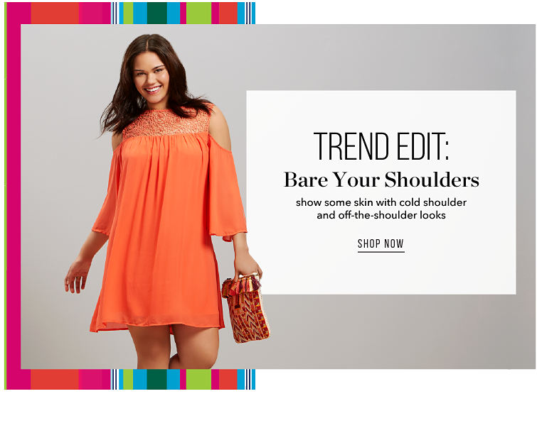 Trend Edit: Bare your Shoulders - show some skin with cold shoulder and off-the-shoulder looks - SHOP NOW