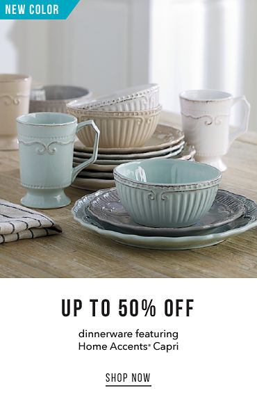 New Color Up To 50% Off Dinnerware Featuring Home Accent Capri | shop now