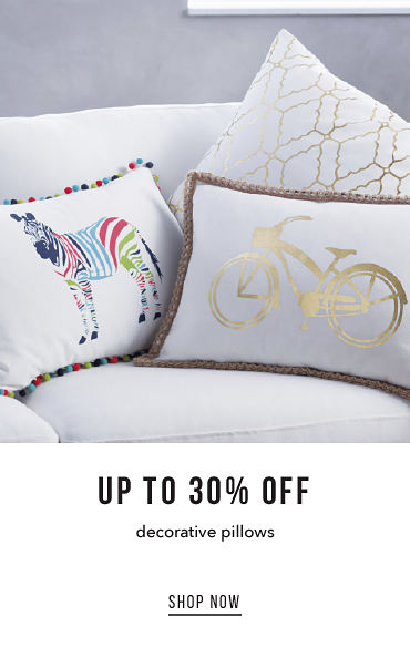 Up To 30% Off Decorative Pillows | shop now