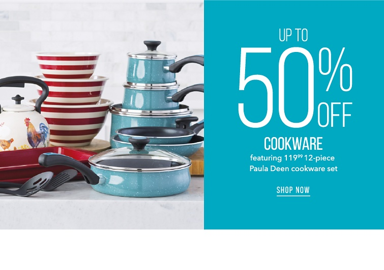 Pots Pans And So Much More | Up To 50% Off Cookware Featuring 119.99 12-Piece Paula Deen Cookware Set | shop now