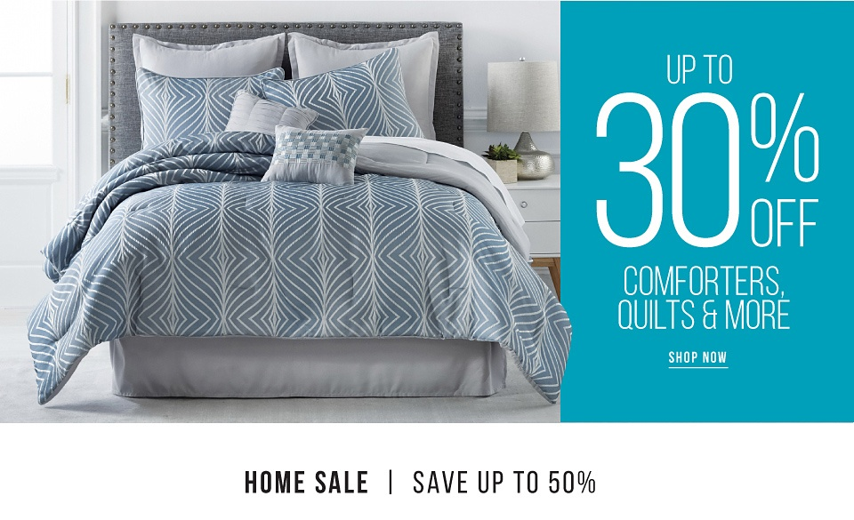 Up to 30% off Comforters, Quilts & more - Shop Now