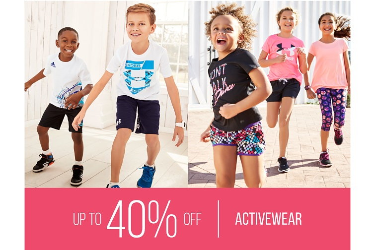 Up to 40 percent off Activewear.