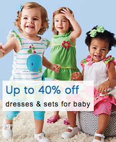 Up to 40% Off Dresses & Sets for Baby