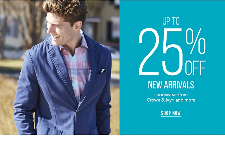 Up to 25% off new arrivals. Sportswear from Crown and Ivy trademark and more. Shop now