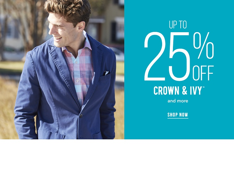 Up to 25% off Crown and Ivy trademark and more. Shop now