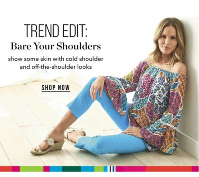 TREND EDIT: Bare Your Shoulders -  Show some skin with cold shoulder and off-the-shoulder lookds. Shop Now.