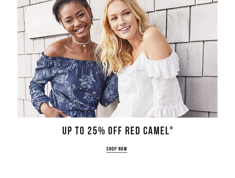 Up to 25% off Red Camel - SHOP NOW