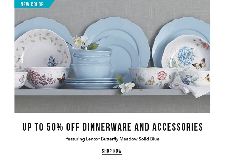 New Color | Up To 50% Off Dinnerware And Accessories Featuring Lenox Butterfly Meadow Solid Blue | shop now