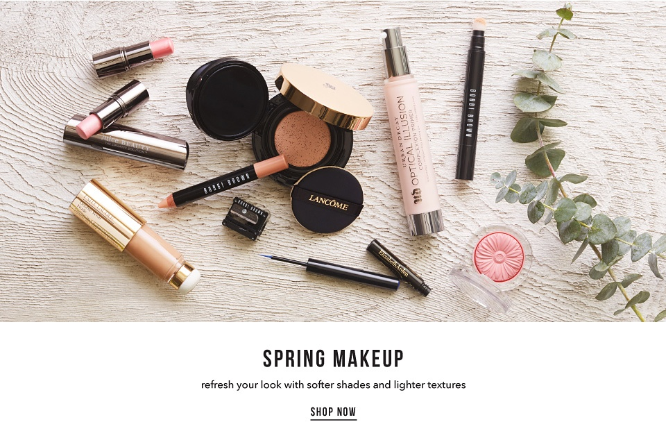 Spring Makeup - Refresh your look with softer shades and lighter textures - Shop Now