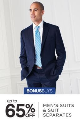 BONUSBUYS | up to 65% OFF | MEN'S SUITS & SUIT SEPARATES