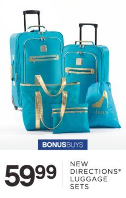 BONUSBUYS | 59.99 | NEW DIRECTIONS® LUGGAGE SETS