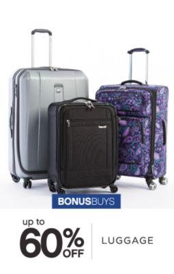 BONUSBUYS | up to 60% OFF | LUGGAGE