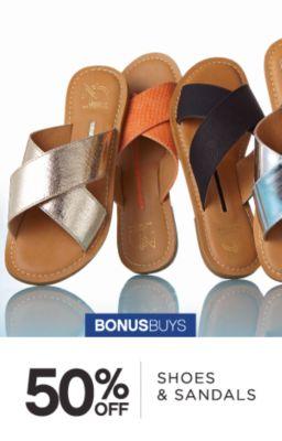 BONUSBUYS | 50% OFF SHOES & SANDALS