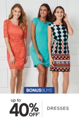 BONUSBUYS | up to 40% OFF | DRESSES