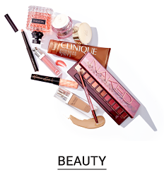 An assortment of beauty products. Shop beauty.