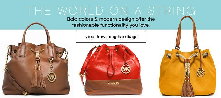 THE WORLD ON A STRING | shop drawstring handbags