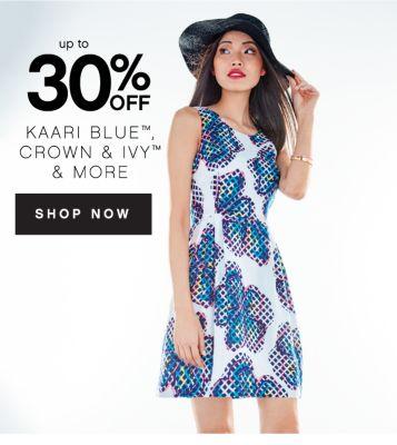 up to 30% OFF | KAARI BLUE™ CROWN & IVY™ & MORE | SHOP NOW