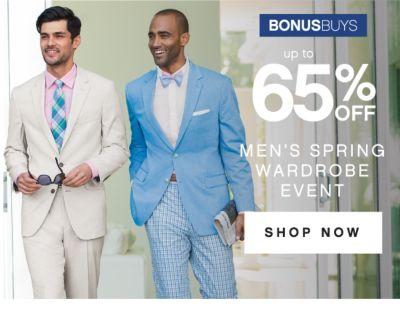 BONUSBUYS | up to 65% OFF | MEN'S SPRING WARDROBE EVENT | SHOP NOW