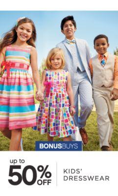 BONUSBUYS | up to 50% OFF KIDS' DRESSWEAR