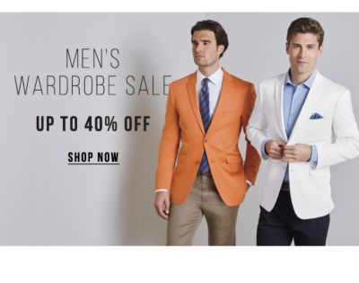 Men's Wardrobe Sale - Up to 40% off. Shop Now.