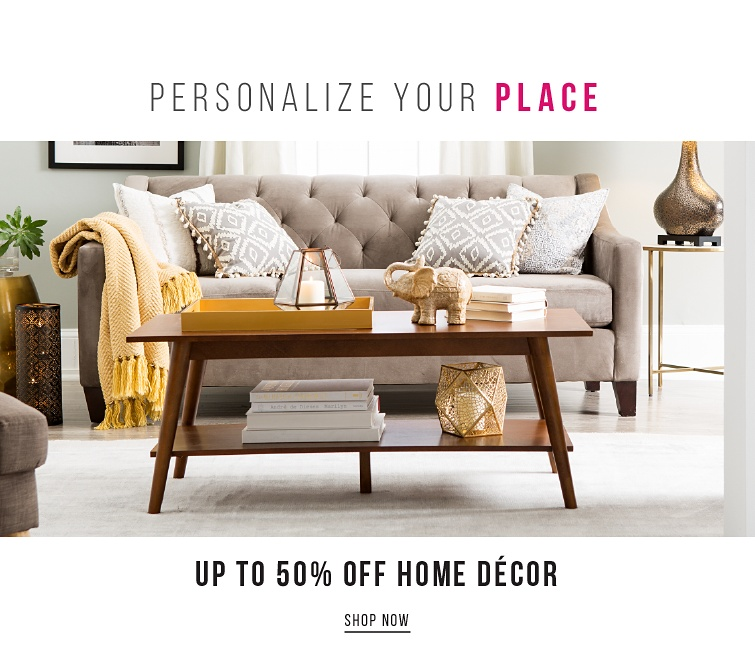 Up To 50Percent Off Home Decor