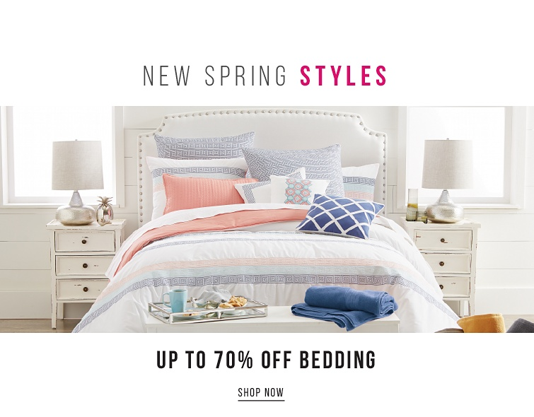 New Spring Styles | Up To 70Percent Off Bedding | shop now