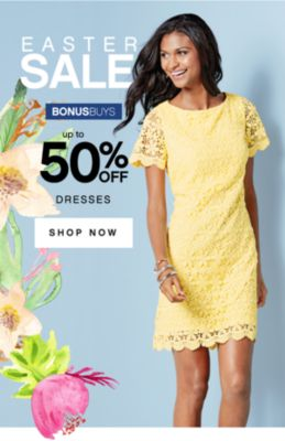 EASTER SALE | BONUSBUYS | up to 50% OFF DRESSES | SHOP NOW