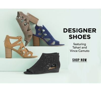 Designer Shoes, featuring Tahari and Vince Camuuto. Shop Now