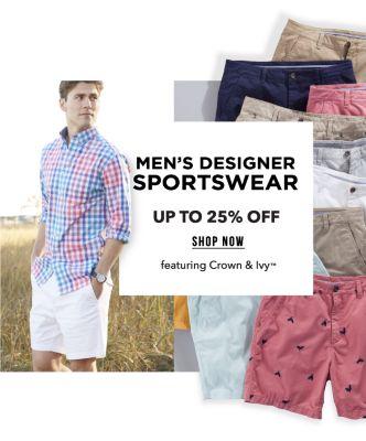 Men's Designer Sportswear - Up to 25% off, featuring Crown & Ivy™. Shop Now