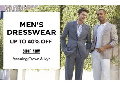 Men's Dresswear - Up to 40% off, featuring Crown & Ivy™. Shop Now.