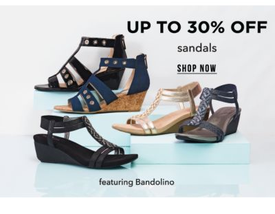 Up to 30% off sandals, featuring Bandolino. Shop Now.