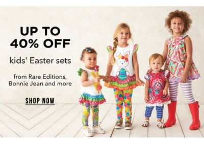 Up to 40% off kids' Easter sets from Rare Editions, Bonnie Jean and more. Shop Now.