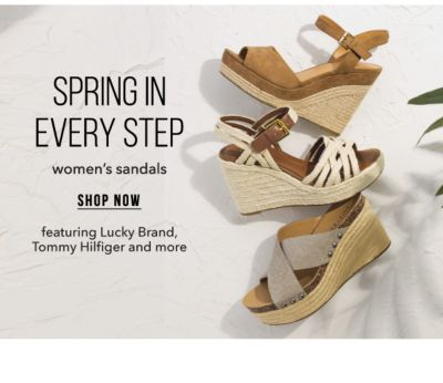 Spring in Every Step - Women's Sandals, featuring Lucky Brand, Tommy Hilfiger and more. Shop Now.