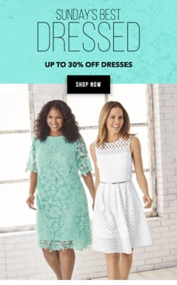 Sunday's Best Dressed - Up to 305 off dresses. Shop Now.