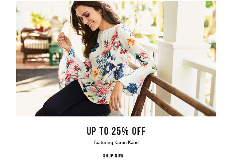 Up to 25% off featuring Karen Kane - SHOP NOW