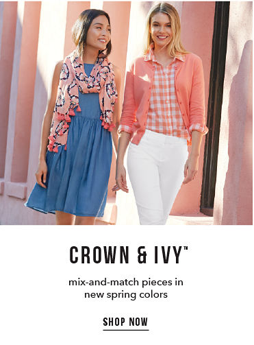 Crown & Ivy™ - mix-and-match pieces in new spring colors